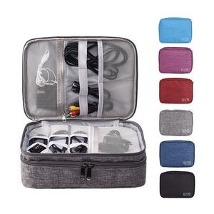 Waterproof Gadget Organizer Case with 3 Layers